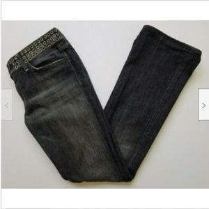 7 For All Mankind Size 29 Jeans Rivets Dark Gray